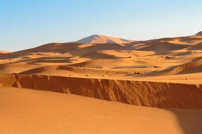 Erg Chebbi Wydmy piaszczyste w pobliżu Merzouga, Maroko