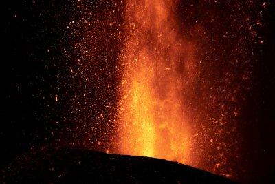 Fototapeta Erupción del volcán de Cumbre Vieja en la isla de La Palma, Islas Canarias
