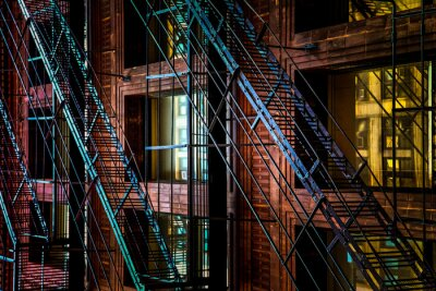 Fototapeta Escaliers de Secours