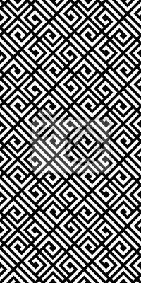 Ethnic vector geometric seamless pattern. Monochrome stylish texture.