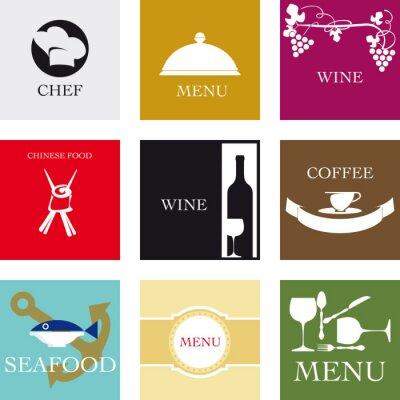 Fototapeta Etichette per la gastronomiczne