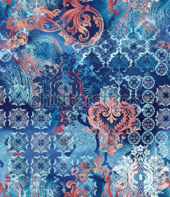 Fototapeta etniczne motywy geometryczne na abstrakcyjny tło