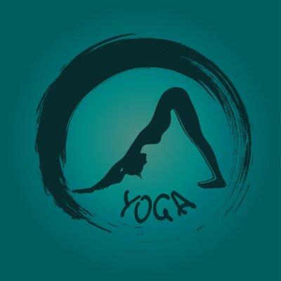 Fototapeta Etykieta symbolu joga z Zen