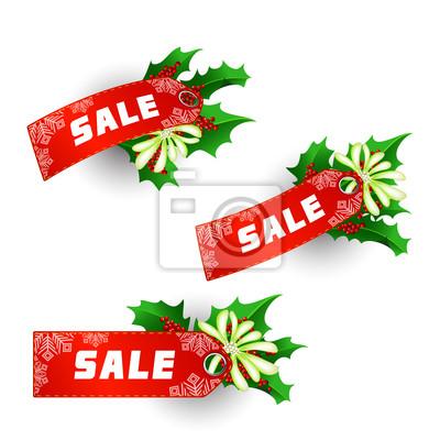 Etykiety na sprzedaż świąteczna
