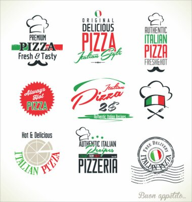 Fototapeta Etykiety Pizza