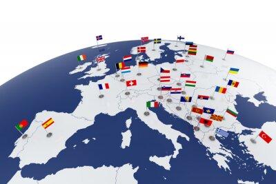 Fototapeta Europa mapa
