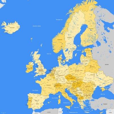 Fototapeta Europa mapa miasta