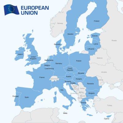 Fototapeta Europa - Mapa Unii Europejskiej