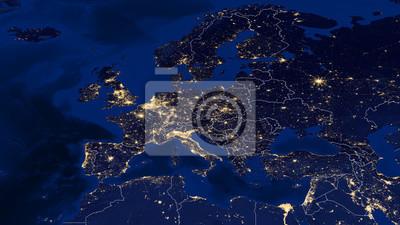 Fototapeta Europa - Night & Krawędzie