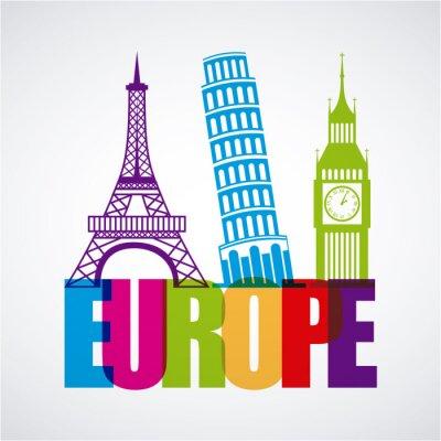 Fototapeta Europa projekt