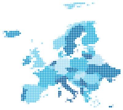 Fototapeta Europa przerywana niebieska