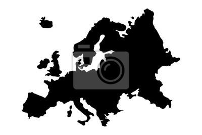 Fototapeta Europe Map Silhouette Vector illustration