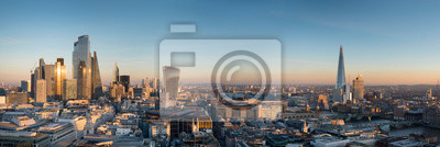Fototapeta europe, UK, England, London, City Shard pano no scaffolding