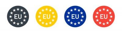 Fototapeta European union icon on circle design. Vector illustration.