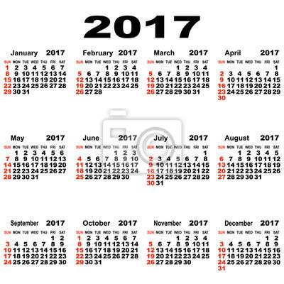 Europejski kalendarz 2017