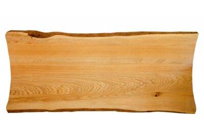 Fototapeta Exclusive home table, solid wood slab, wood texture background.
