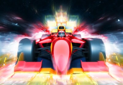Fototapeta F1 bolid z moc?