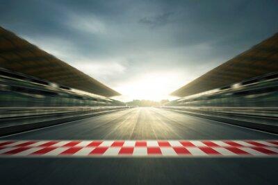 Fototapeta F1 evening circuit motion blur road