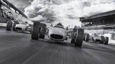 Fototapeta f1 racing 1966 3d render