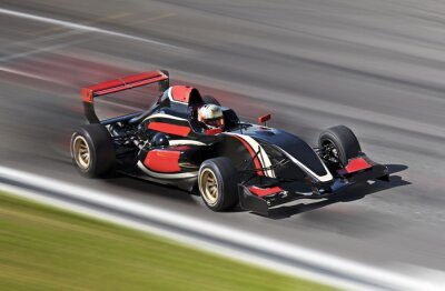 Fototapeta F1 wyścig wyścigi samochodowe na torze z motion blur