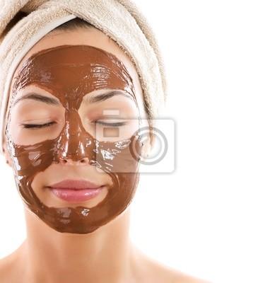 Facial Mask Chocolate. Spa