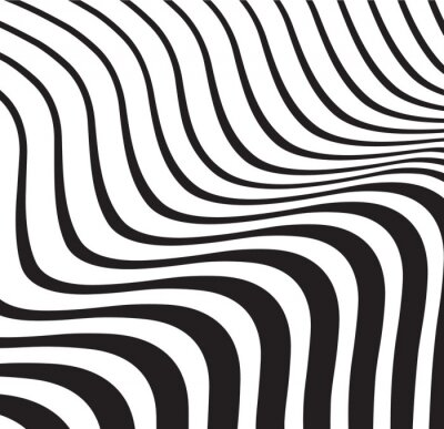 Fototapeta fala optyczna abstrakcyjne paski czarnym tle