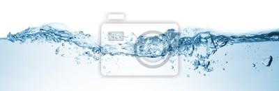 Fototapeta Fala. Rozpryskiwania wody na białym tle