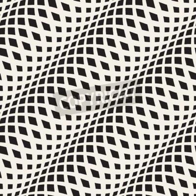 Fototapeta Falista skrzyżowane paski szwu wzór 3D. Streszczenie tekstury mody. Geometryczne monochromatyczny szablonu. styl graficzny dla tapety, opakowania, tkaniny, tło, odzieżowego, grafika, strony internetow