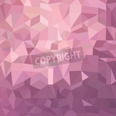 Fototapeta Fancy różowy metaliczny ilustracji tła nieregularnych wielokątów kształtów.
