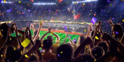 Fototapeta Fani na stadionie gry widoku panoramy