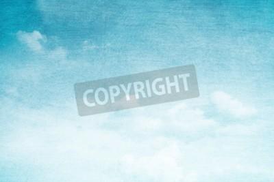 Fototapeta fantastyczne miękkie chmury i niebo abstrakcyjne tło z grunge tekstury