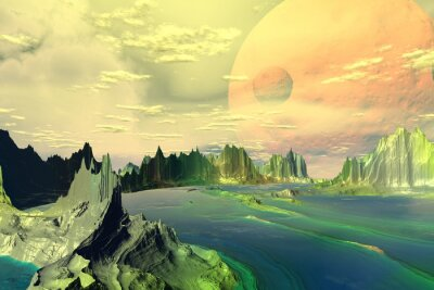 Fototapeta Fantasy Alien Planet.