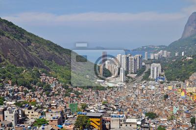 Favela Rocinha. Brazylia.