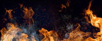 Fototapeta Feuer Rauch Grillen