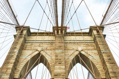 Fototapeta Filar mostu Brooklyn, Nowy Jork
