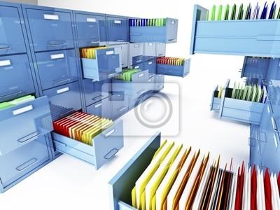 Fototapeta file cabinet 3d