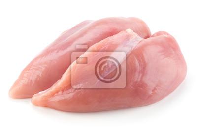 Fototapeta Filety z piersi kurczaka surowego