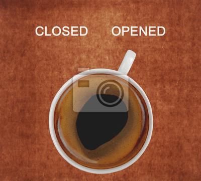 filiżanka kawy przedstawiający otwarty