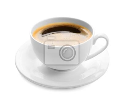 Filiżanka kawy samodzielnie na białym tle