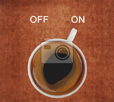 filiżanka kawy włączeniem