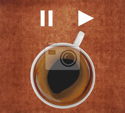 filiżanka kawy zabawa znak pokazujący