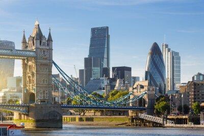 Fototapeta Financial District of London i Tower Bridge