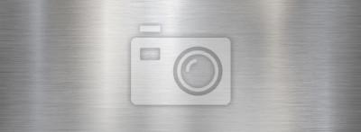 Fototapeta Fine brushed wide metal steel or aluminum plate