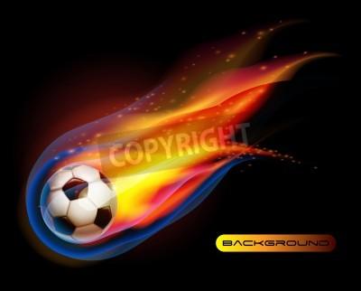 Fototapeta Fire Football soccer ball vector