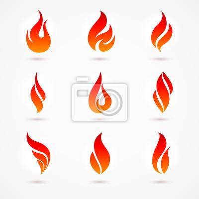 Fototapeta Fire Icons