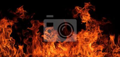 Fototapeta Firestorm tekstury. bokeh światła na czarnym tle, strzał z muchą
