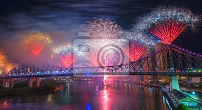 Fototapeta Fireworks celebration.