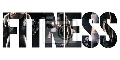 Fototapeta Fitness, zdrowy styl życia i koncepcja sportu