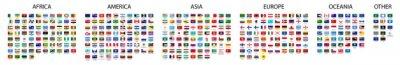 Fototapeta Flag of world. Vector icons. Set flags.