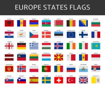 Fototapeta Flaga Europy stwierdza, wektor zestaw